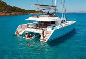 yacht vacation in the tropics